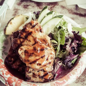 Grass Skirt Grill in Haleiwa Chicken Extra
