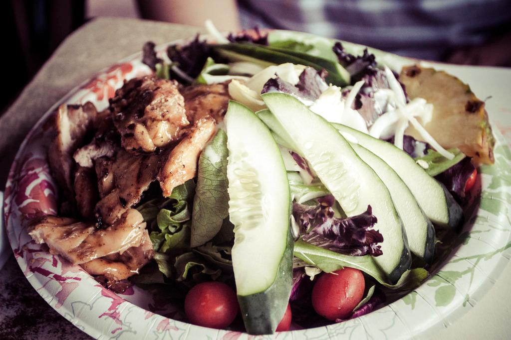 Grass Skirt Grill in Haleiwa Chicken
