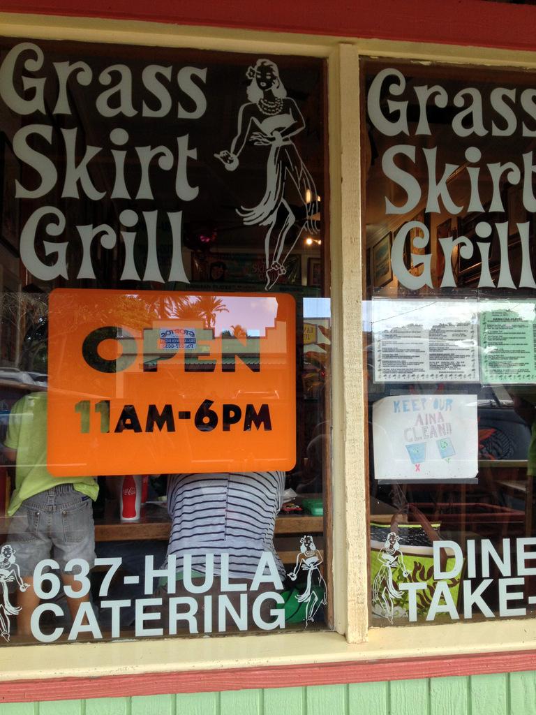 Grass Skirt Grill in Haleiwa