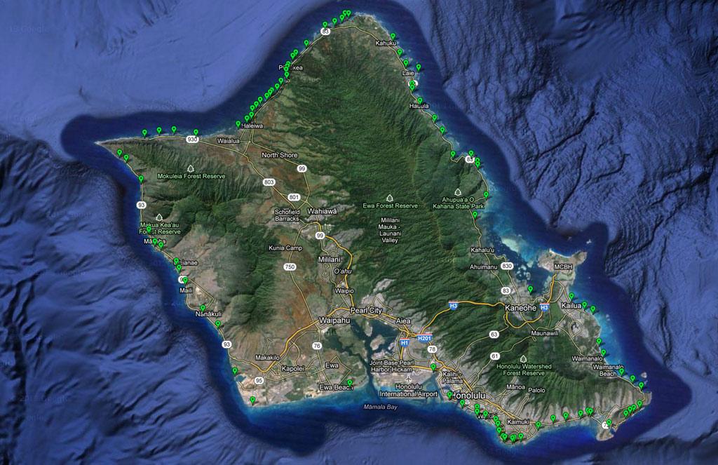 oahu-beach-map